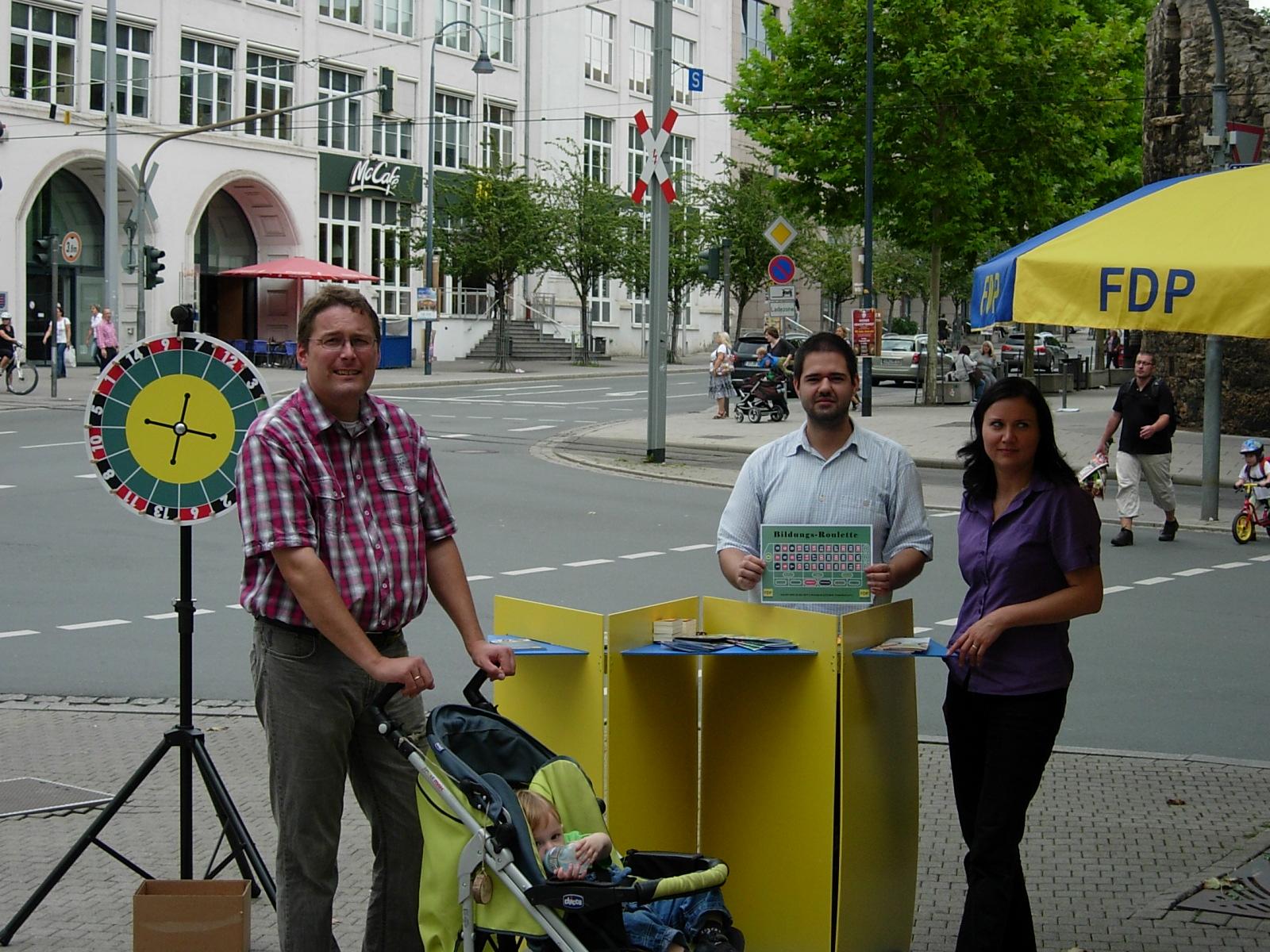 FDP Jena mit Infostand