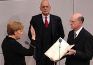 Bundeskanzlerin Merkel beim Amtseid