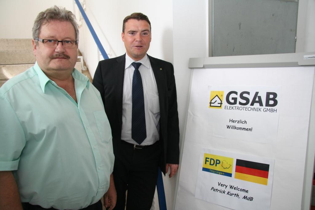 Herzliche Begrüßung bei der Firma GSAB