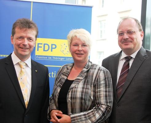 Uwe Barth, Franka Hitzing und Dirk Bergner