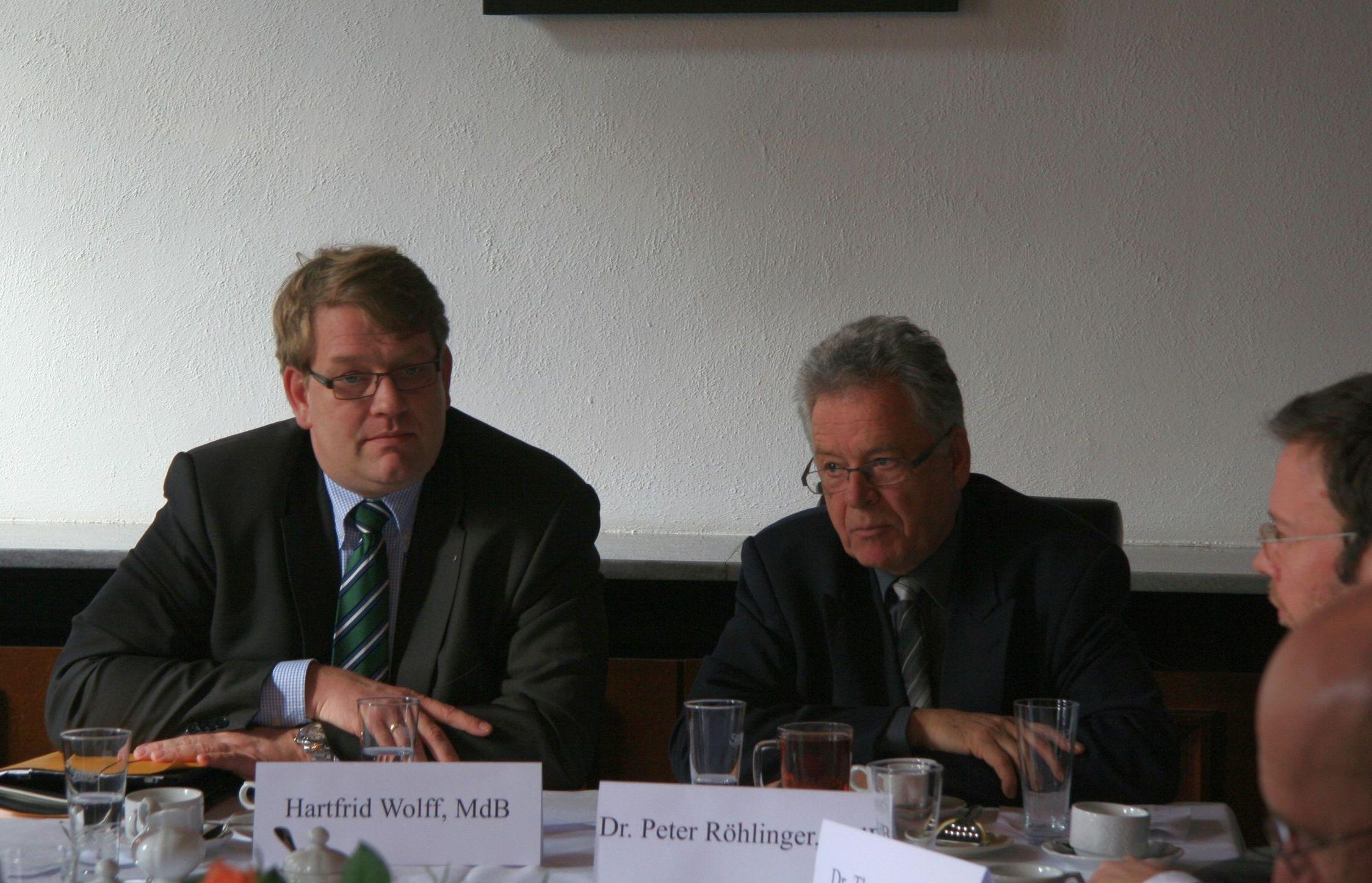 Hartfrid Wolff, MdB und Peter Röhlinger, MdB