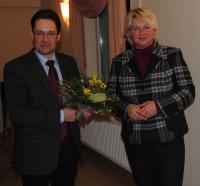 Claus-Peter Roßberg gratulierte Franka Hitzing