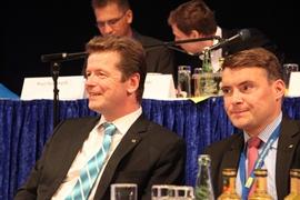 Landesvorsitzender Barth und Generalsekretär Kurth