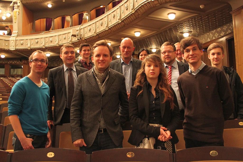 Thüringer Delegation vor Start der Kundgebung