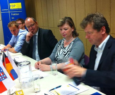 Landrätin Schweinsburg im Gespräch mit Uwe Barth