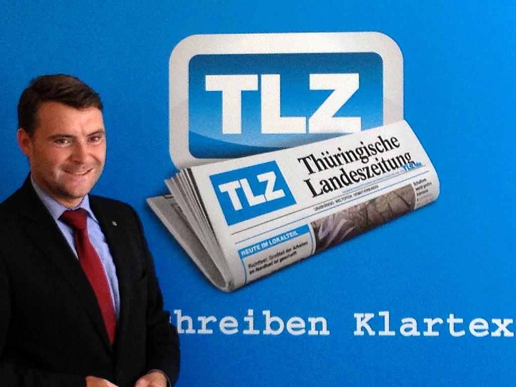 Spitzenkandidat Kurth bei der TLZ