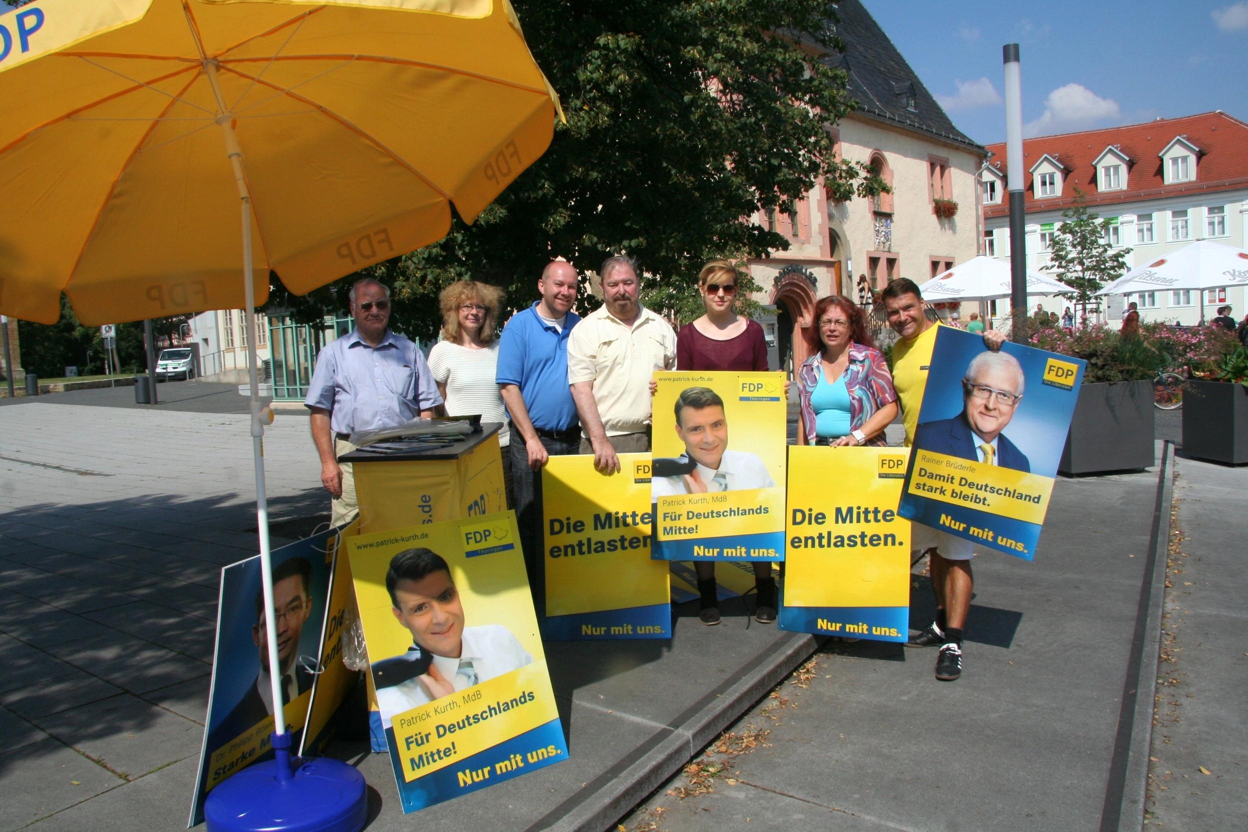 Wahlkampfauftakt in Sömmerda