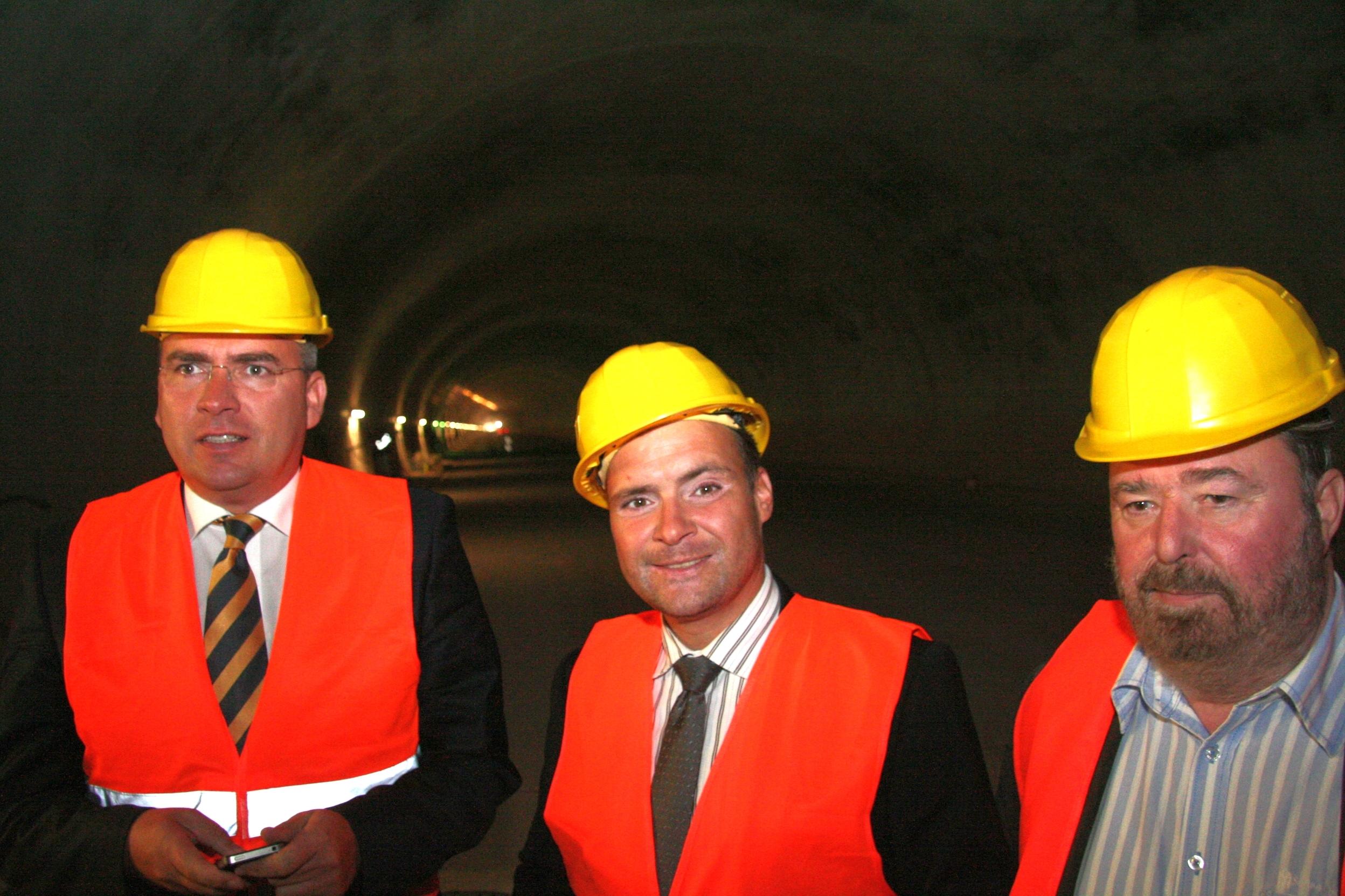 Besichtigung des Jagdbergtunnels