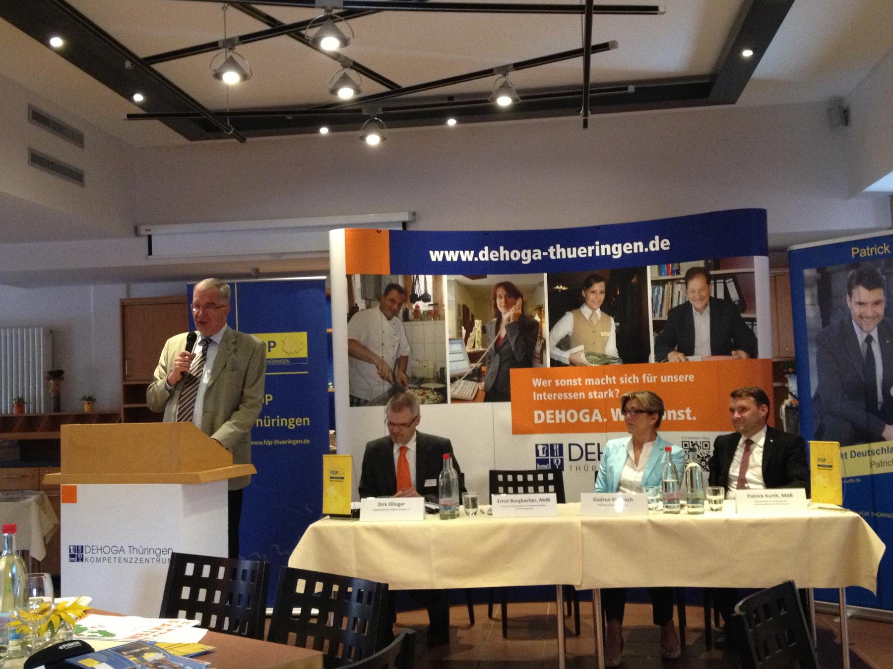 DEHOGA-Diskussion mit Ernst Burgbacher