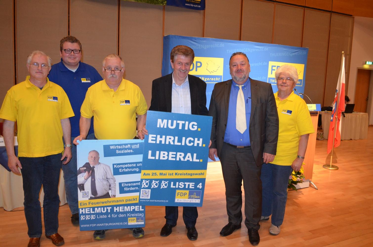 Liberale Kreistagskandidaten aus WAK und Gotha