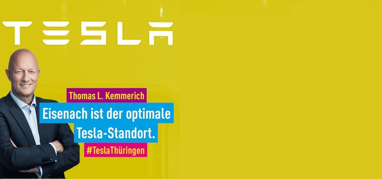 Wirtschaftspolitik: Kemmerich: Eisenach ist der optimale Tesla-Standort