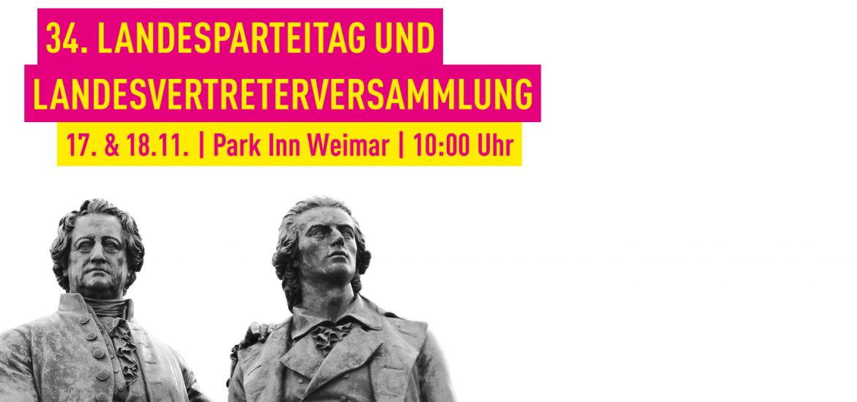 17. und 18.11. im Park Inn Weimar: 34. Ordentlicher Landesparteitag und Landesvertreterversammlung