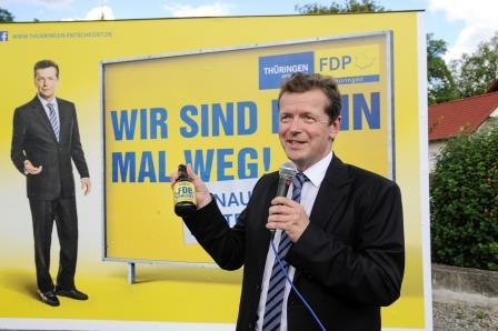 Wahlkampfauftakt der FDP Thüringen