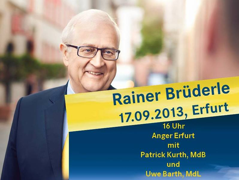 Spitzenkandidat Rainer Brüderle in Erfurt