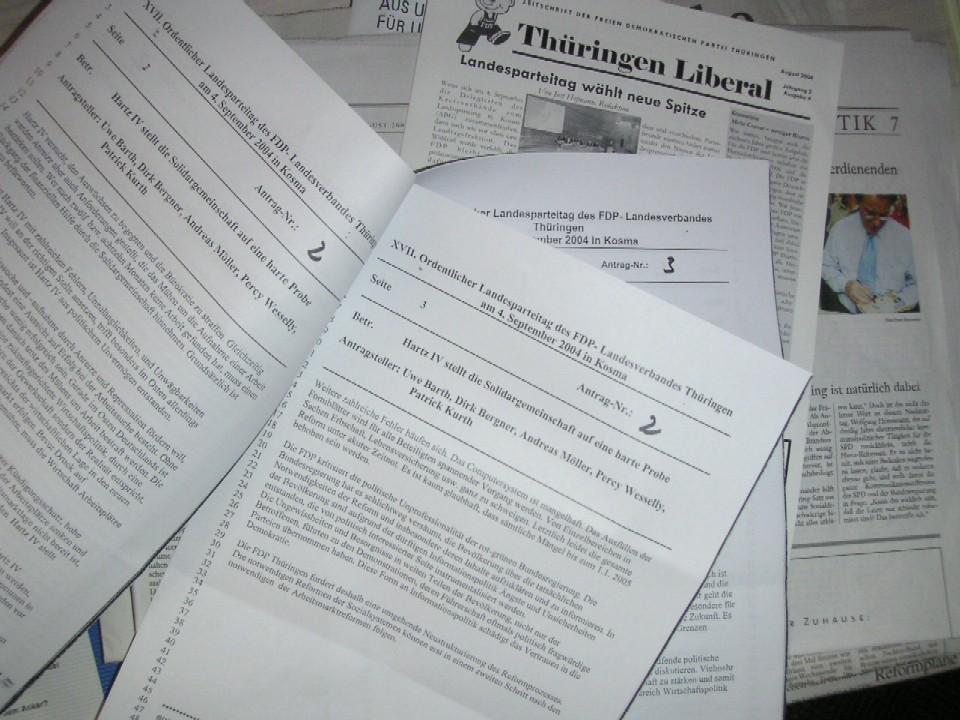 Anträge für den kommenden Parteitag