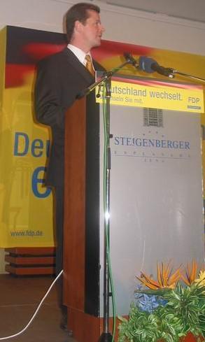 Landeschef Uwe Barth während seiner Rede