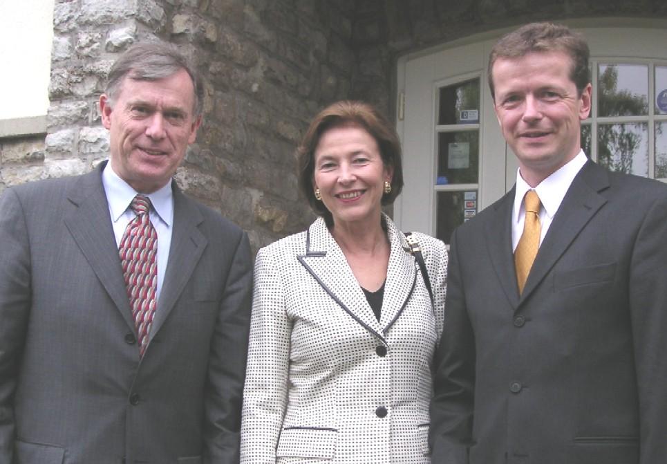 Uwe Barth mit Prof. Köhler nebst Gattin