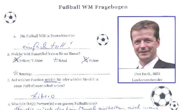 Landeschef Uwe Barth im Fragebogen