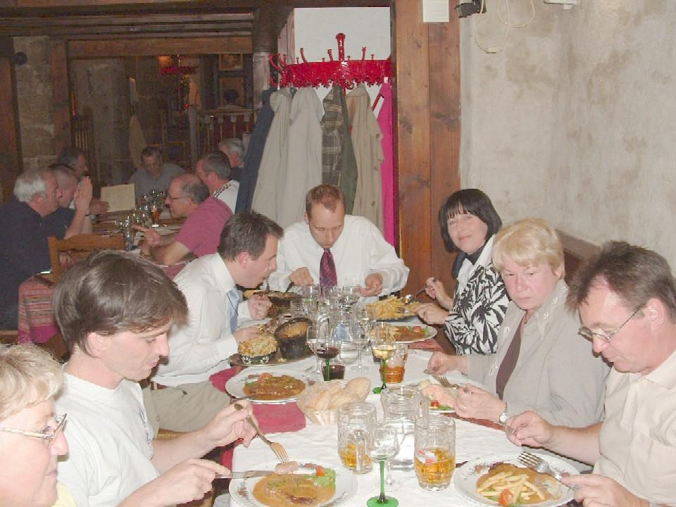 Abendessen in Strassburg mit Holger Krahmer (m.)