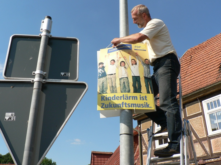 Liberale Wahlhelfer zur Landtagswahl im Eichsfeld aktiv