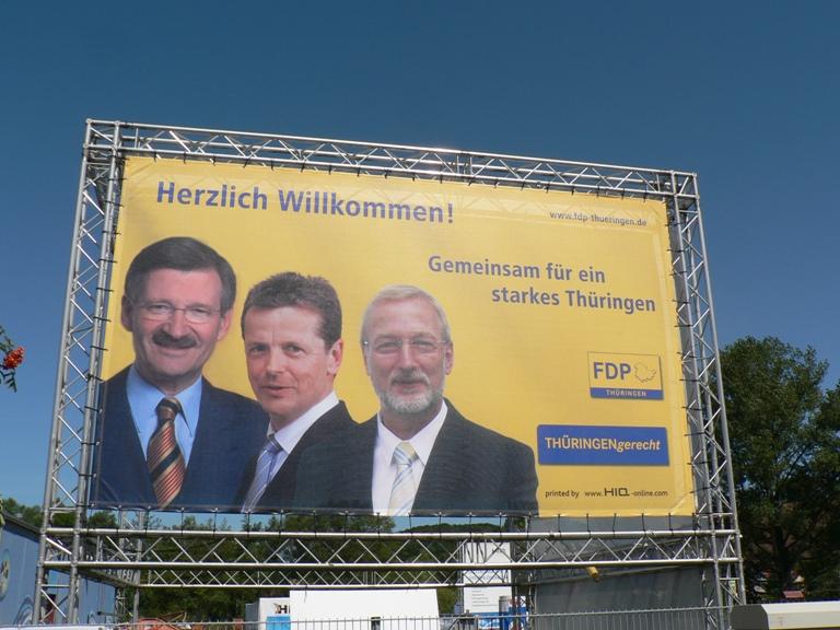 Hermann Otto Solms, Uwe Barth und Matthias Bollwahn bei HIQ in Schönau und Podium in Heiligenstadt