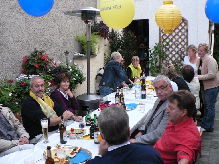 Wahlparty am 30.08.2009 beim Direktkandidaten Matthias Bollwahn