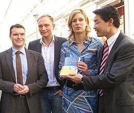 Rösler, Koch-Mehrin, Lindner und Kurth (vrnl)