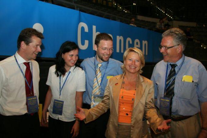 Delegierte aus Jena mit Uwe Barth und Conny Pieper