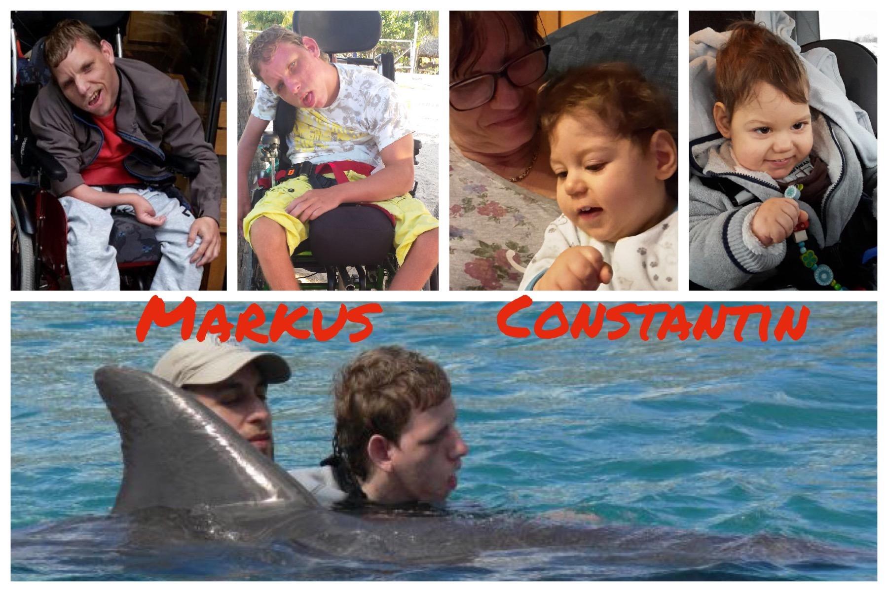 Delphintherapie f�r Markus und Constantin