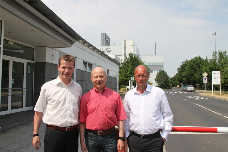 Kemmerich, Lieske, Barth (von rechts nach links)