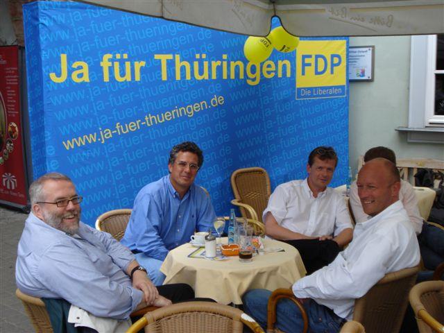 Sommerbrunch der Erfurter Liberalen 2007
