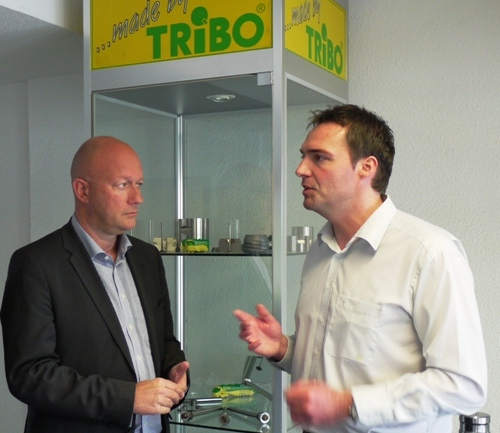 Olaf Klein, TRIBO-Produktmanager mit T. Kemmerich