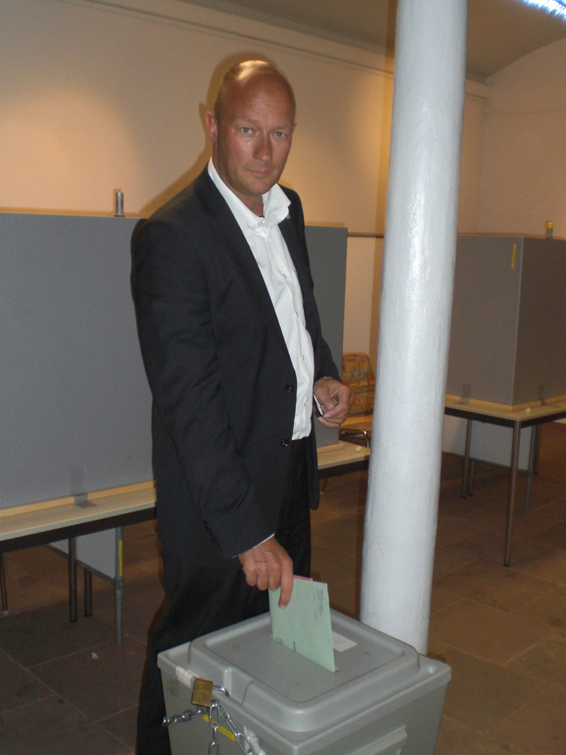 Thomas L. Kemmerich im Wahllokal