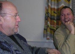 Horst Gärtner und Kreischef Silvio Rerimann (r.)