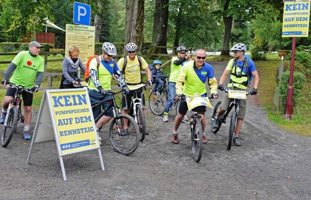 Start der Radfahrer in Georgenthal