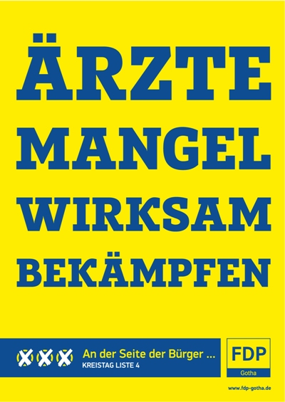 Plakat für die Wahlen zum Kreistag