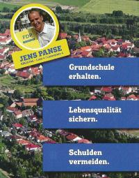 Flyer der FDP zur Kommunalwahl in der Fahner Höhe