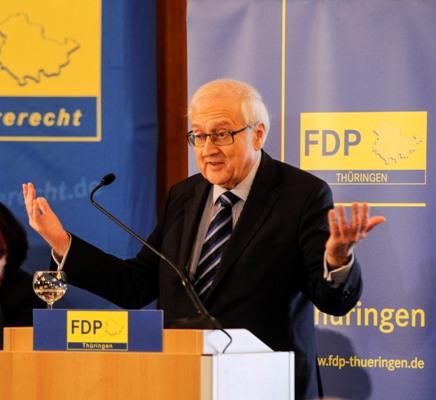 Rainer Brüderle beim Landesparteitag in Weimar