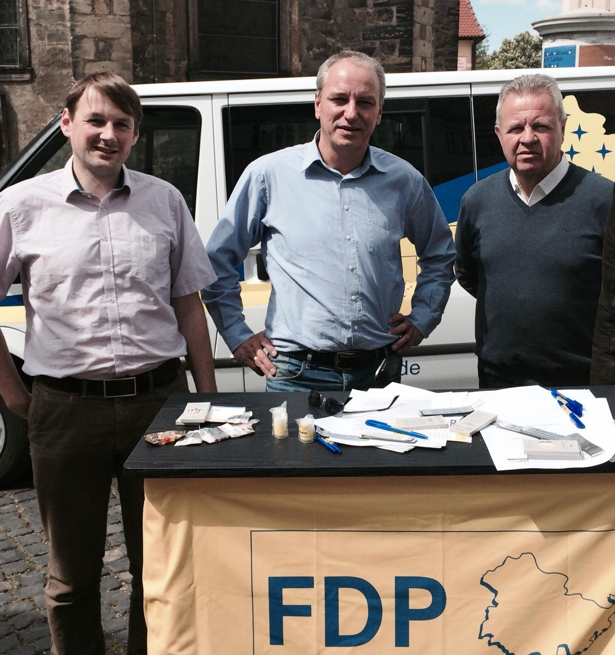 Die drei Direktkandidaten der Gothaer FDP