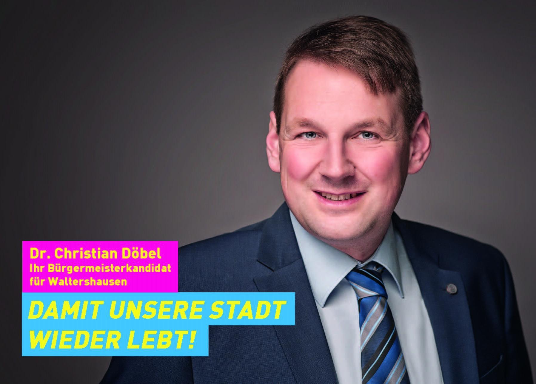 Unser Bürgermeisterkandidat Christian Döbel