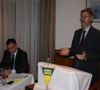 Konrad Gießmann bei der Mitgliederversammlung