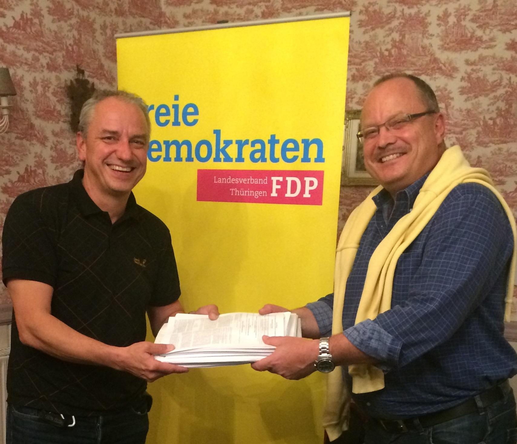 Jens Panse und Dirk Bergner in Erfurt