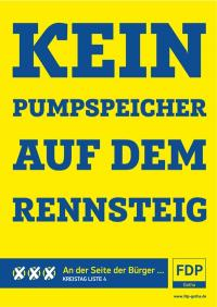 Plakat der Liberalen für die Kreistagswahl
