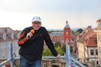 FDP-Kreischef J. Panse über den Dächern von Gotha