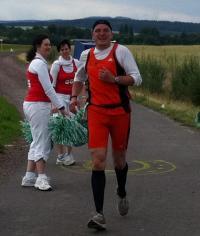 Läufer Panse kurz vor dem Ziel bei Mechterstädt