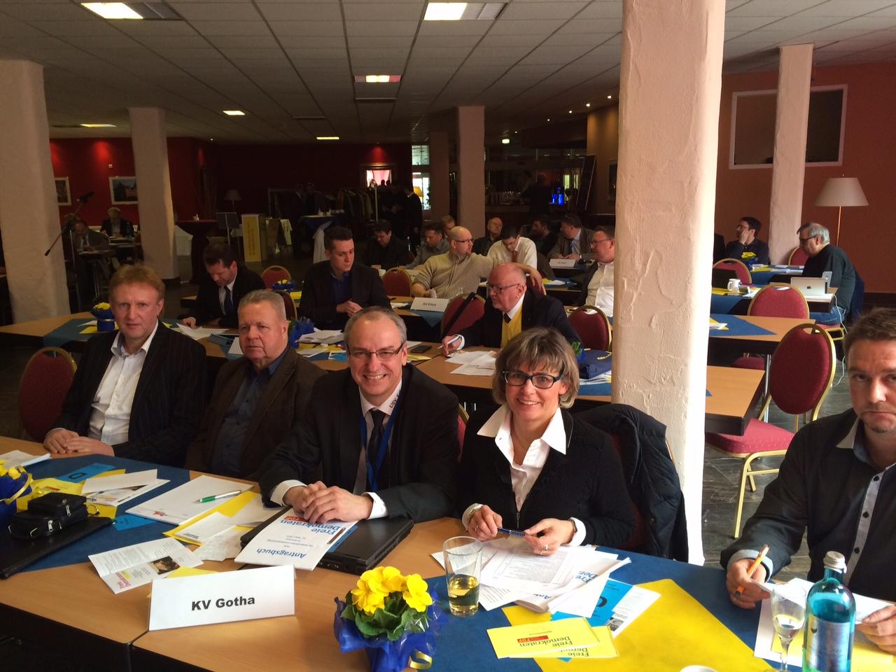 Gothaer Delegierte beim Landesparteitag in Ilmenau