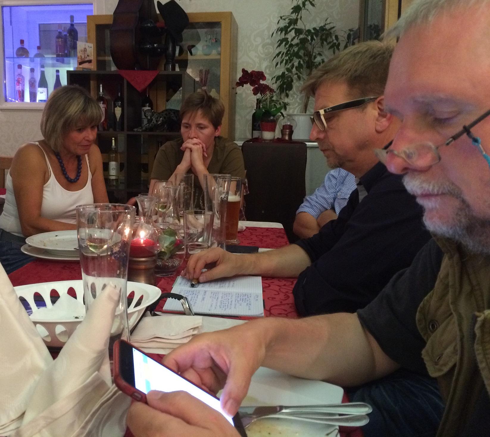 Treffen mit Gothaer Journalisten