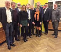 Der neue Kreisvorstand der FDP-Gotha mit Gästen