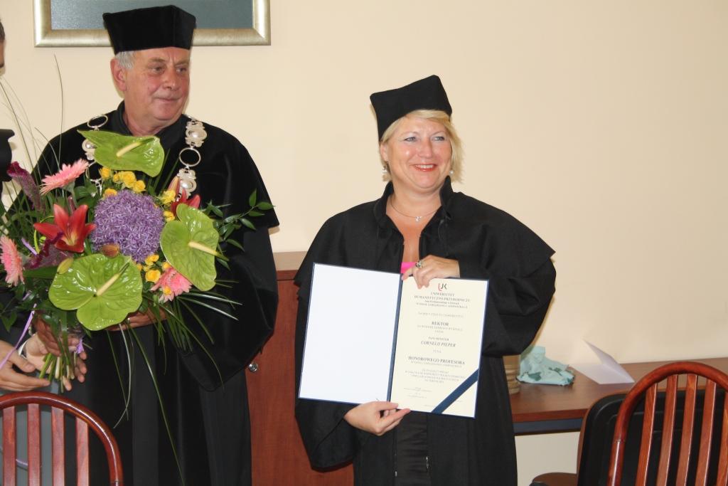 Cornelia Pieper bei der Verleihung in Kielce