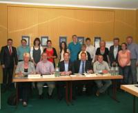 Die Teilnehmer der Bildungsdiskussion in Gotha